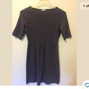 Garnet Hill Gray cotton fit & flare dress size 6